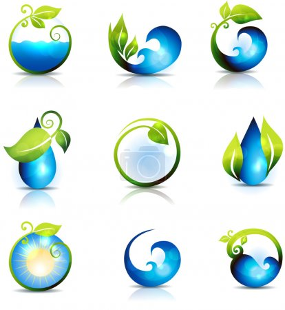 Nature and water symbols