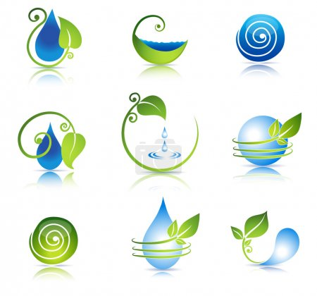 Illustration for Nature healing symbols. Clean and fresh feeling. - Royalty Free Image
