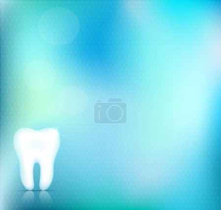 Healthy white tooth background design