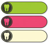 Dental banners collection beautiful colorful designs