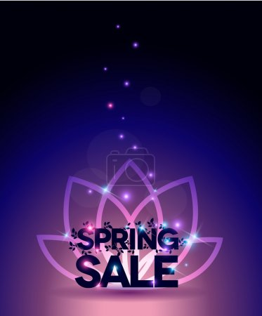 Bright Spring sale poster, beautiful colors with light shades