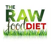 Syrové potraviny Dieta text s trávou
