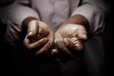 Photo for Working hands of old man - Royalty Free Image