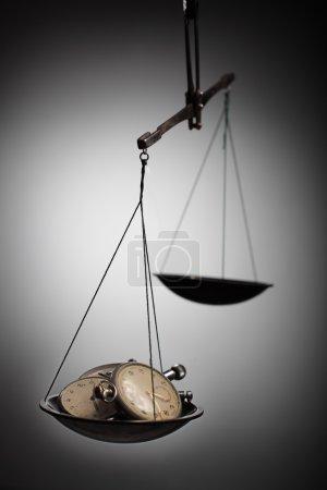 balance with clock