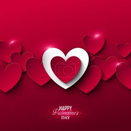 Illustration pour Lumineux fond Saint-Valentin avec des cœurs - image libre de droit