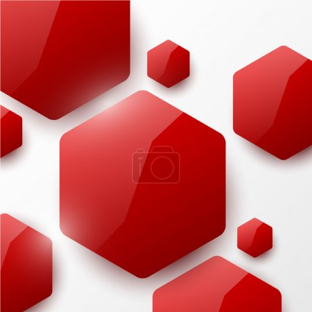 Illustration for Red geometric glossy background - Royalty Free Image