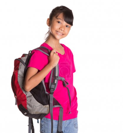 Young Girl With Backpack