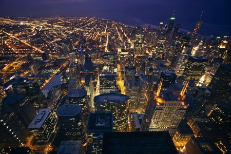 Photo for View of Chicago looking down from above - Royalty Free Image