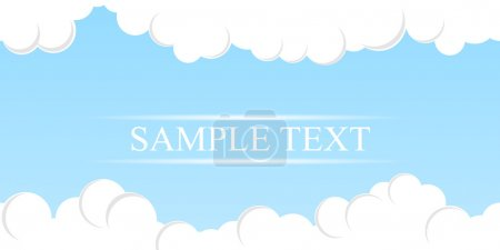 Simple Sky Background. Vector
