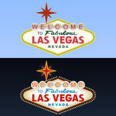 Las Vegas Sign Day and Night Vector