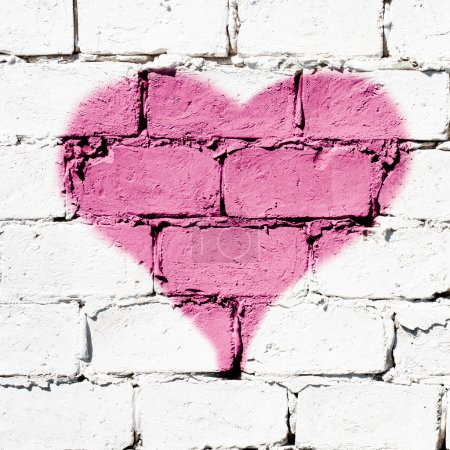 "Photo for ""I love You"" graffiti message on the brick wall - Royalty Free Image"