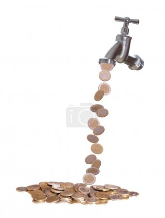 Faucet were european currency drops out...