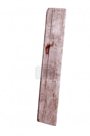 Old wooden plank with rusty nail