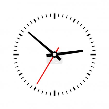 Clock dial on a white background. Vector