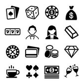Gambling and Casino Icons Set Vector