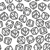 Gambling Dices Seamless Pattern on White Background Vector