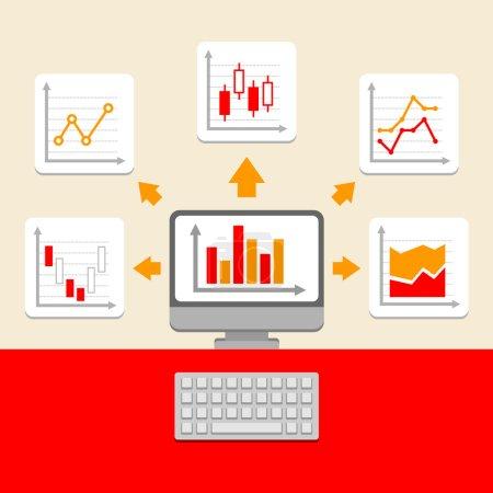 Ilustración de Colección clasificaciones y gráficos de negocios. elementos de la infografía. Vector - Imagen libre de derechos