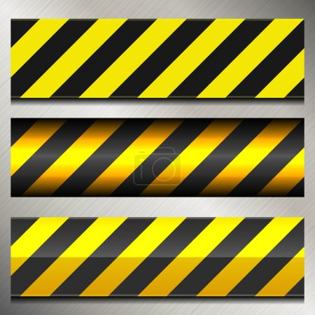 Set of Danger and Police Warning Lines