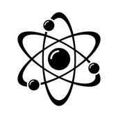 Atom Part on White Bakground Vector