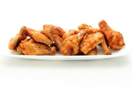 Dry rub deep fried chicken wings, heartburn on a plate