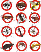 Warning sign pest control invasion species social insects