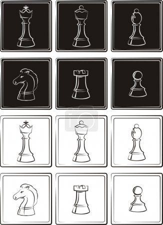 Chess - pieces of chess