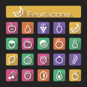 The modern icons set fruits vector eps 10