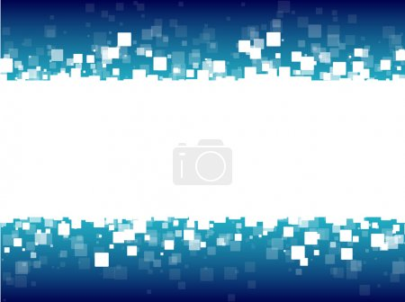 Illustration for Abstract blue futuristic background white squares eps10 - Royalty Free Image