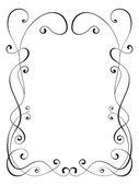 "Постер, картина, фотообои ""Calligraphy ornamental decorative frame"""