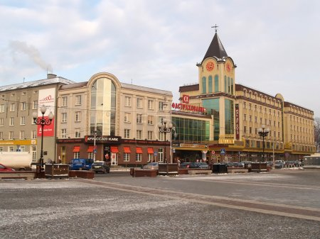 Kaliningrad. Buildings on Pobedy Square