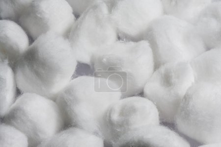Pile of white cotton balls