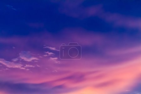 Photo for Colorful sky in twilight time background - Royalty Free Image