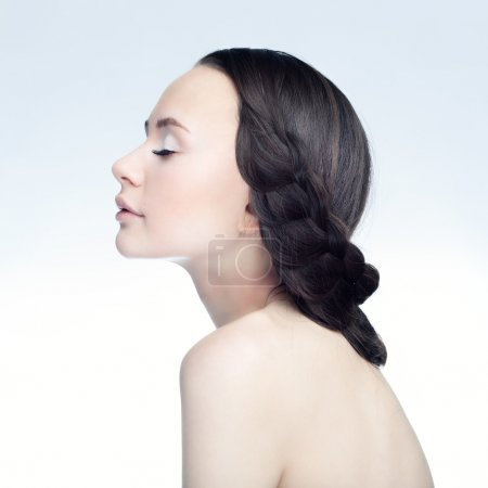 Photo for Brunette girl in profile - Royalty Free Image