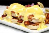 Double stacked eggs benedict