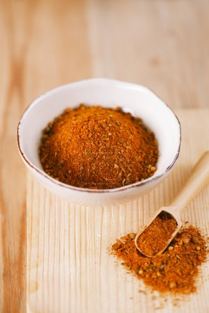 spices Chicken BBQ Rub mix of Herbs, shallow dof