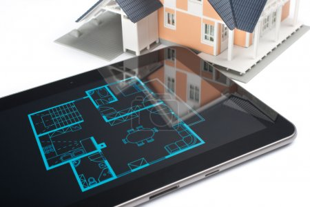 House and digital tablet