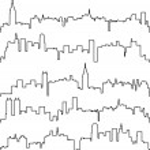 Vector city contours of buildings...