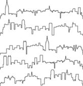 Vector city contours of buildings