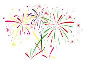 vector fireworks background