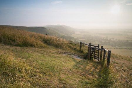 Vue sur la campagne anglaise à la fin de l'été