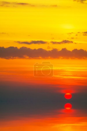 Sunset over cold ocean.4