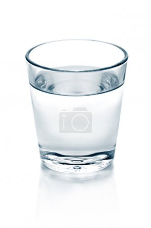 Photo for Glass of water isolated on white - Royalty Free Image