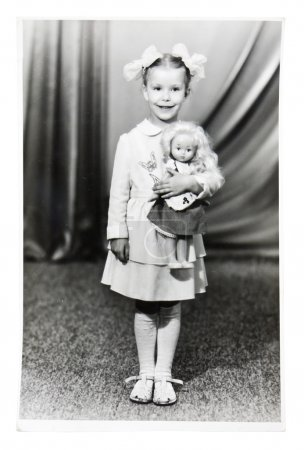 Vintage photo of little girl
