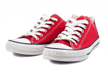 Photo for Vintage red shoes on white background - Royalty Free Image
