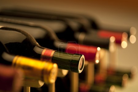 Photo for Wine bottles shot with very limited depth of field - Royalty Free Image