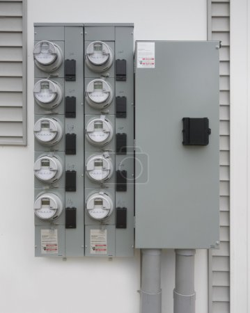 Power supply panel and meter