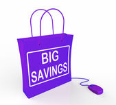 Big Savings Bag Represents Online Discounts and Reductions in Pr