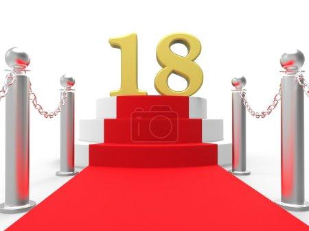 Golden Eighteen On Red Carpet Meaning Celebrity Eighteenth Birthday Party