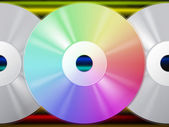 CD pozadí znamená, že hudební umělci a duhová linka