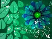 Listy pozadí znamená květy kvetoucí a květinové